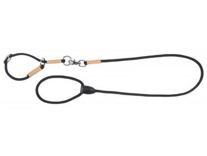 Set vodítko a obojek pro psy String PFIFF, black/brown