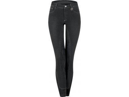 Rajtky Cara ELT s celokoženým sedem,, jeans, černé