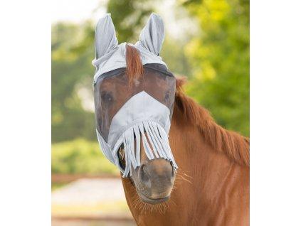 Maska proti hmyzu s třásněmi Premium Waldhausen, silver grey