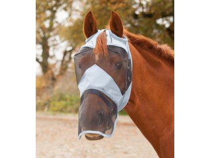 Maska proti hmyzu bez ochrany uší/ s překrytím nozder Premium Waldhausen, silver grey