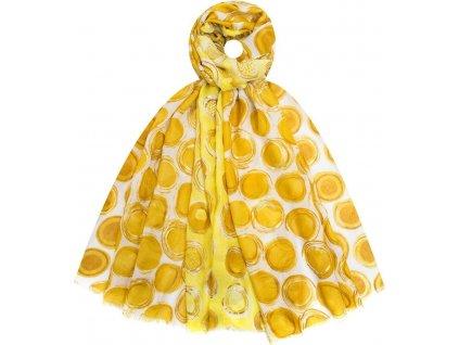 Šátek vzorovaný Doreen Springstar, yellow