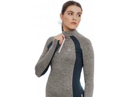 Multifunkční tričko Horseware, dámské, zateplené, grey melange