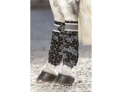 Bandáže fleecové 4ks Horseware, hexagon print