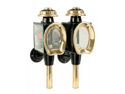 Kočárové lampy Modell C PFIFF, black/gold