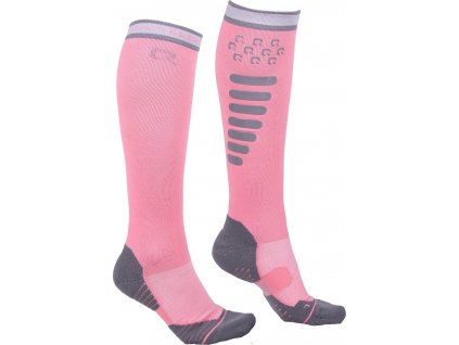 Podkolenky jezdecké Super Grip QHP, flamingo pink
