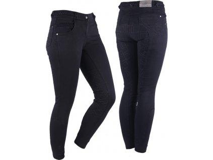 Rajtky Veerle QHP s gripem, jeans, dámské, černé