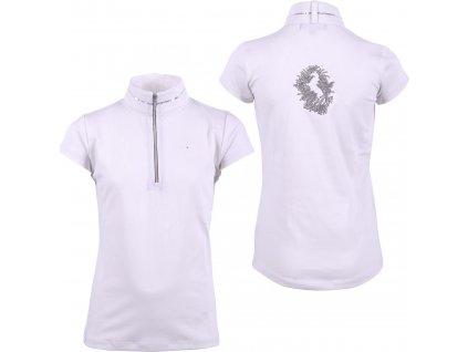 Košile závodní Naeva QHP, dětská, bílá