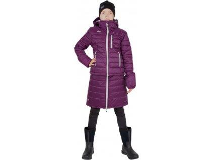 Bunda zimní jezdecká Junior UHIP, dětská, potent purple