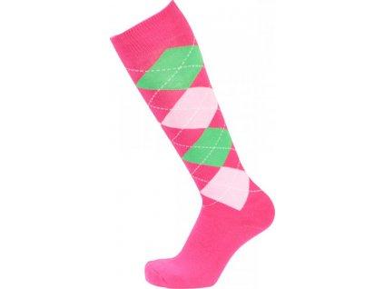 Podkolenky PFIFF, pink/rosa/green