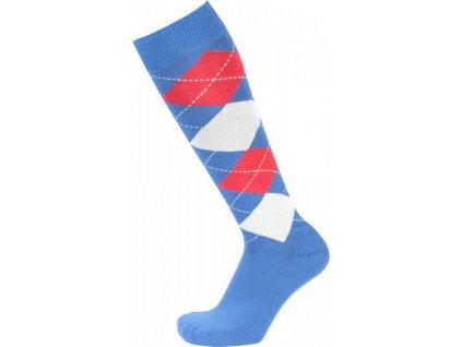 Podkolenky jezdecké kárované PFIFF, blue/white/red