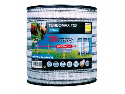 Páska k elektrickému ohradníku 200m Turbomax wide