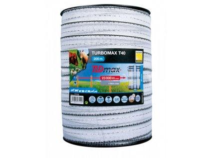 Páska k elektrickému ohradníku 200m Turbomax T40