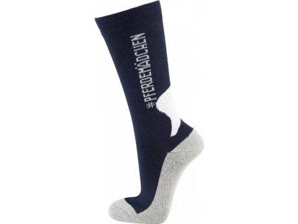 Ponožky jezdecké Soulhorse PFIFF, dark blue/grey/white