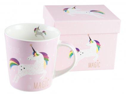 Hrníček Pink Unicorn v dárkové krabičce PFIFF, růžový