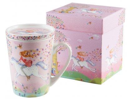 Hrníček Fantasy Ride v dárkové krabičce PFIFF, růžový