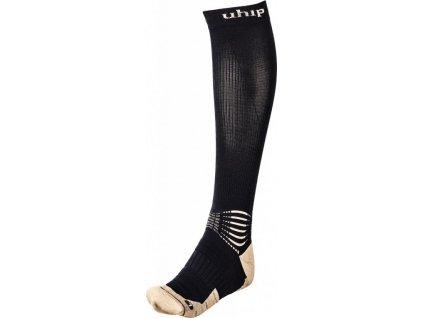 Podkolenky kompresní vlněné jezdecké Wool UHIP, černé