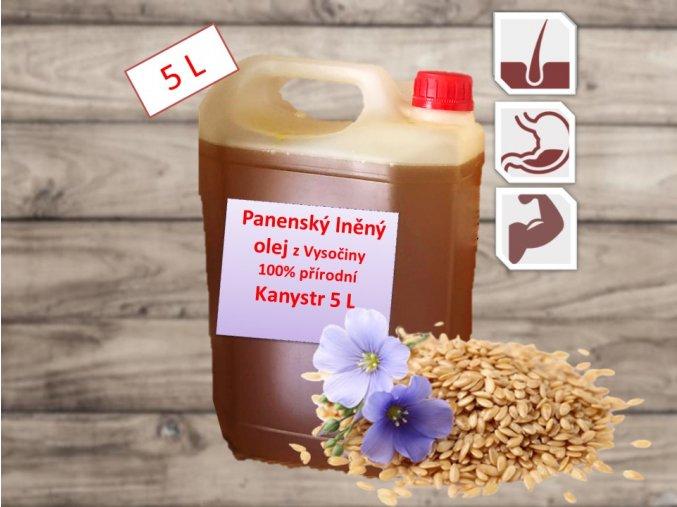 Lněný olej z Vysočiny