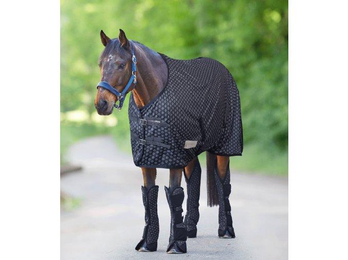 Výběhová deka Silver Hearts fleece