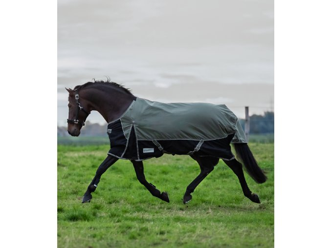 Výběhová deka Comfort 100g khaki/black
