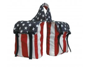 USA FLAG PATTERN SADDLEBAG