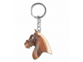 Dřevěný přívěšek na klíče ve tvaru koníka