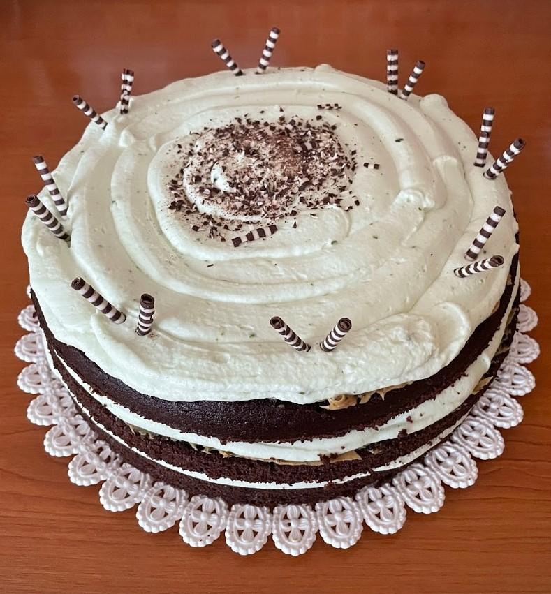 Pistáciový dort Brilant