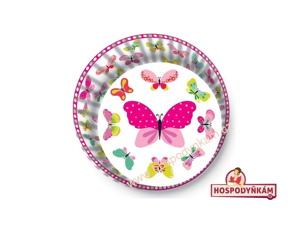 Cukrářské košíčky bílé s motýlky