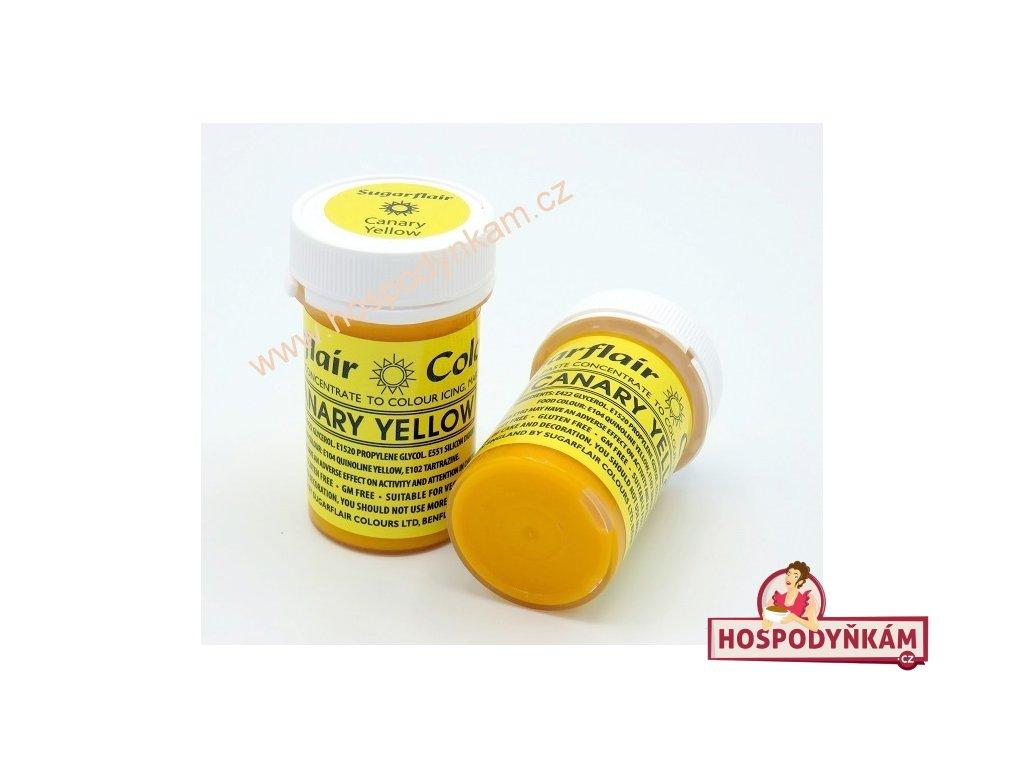 Gelová barva Sugarflair Canary Yellow