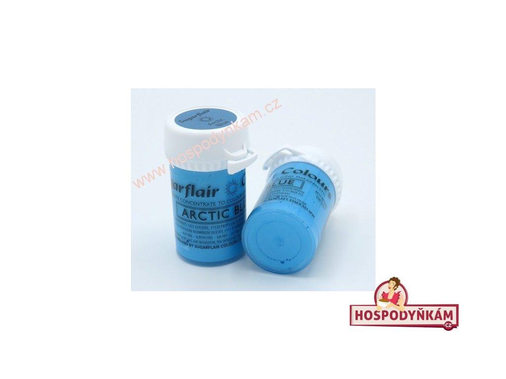 Gelová barva Sugarflair perleťová Arctic Blue