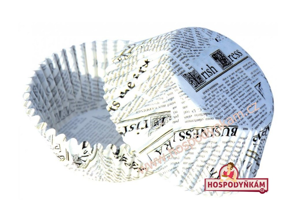 Cukrářské košíčky novinový papír