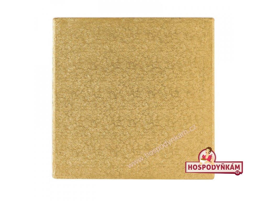 Culpitt Zlatý tác čtverec 35x35cm