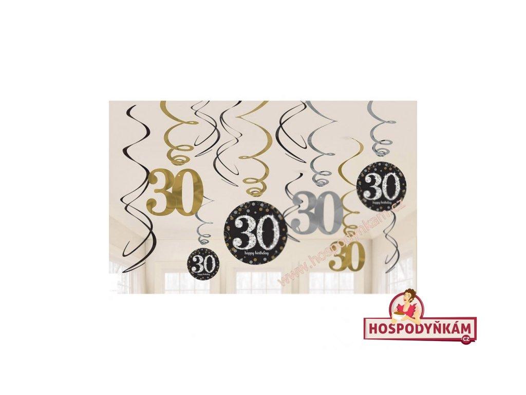 Spirálová dekorace 30. narozeniny