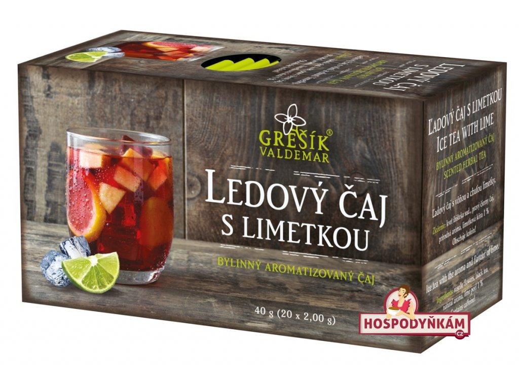 Ledový čaj s limetkou