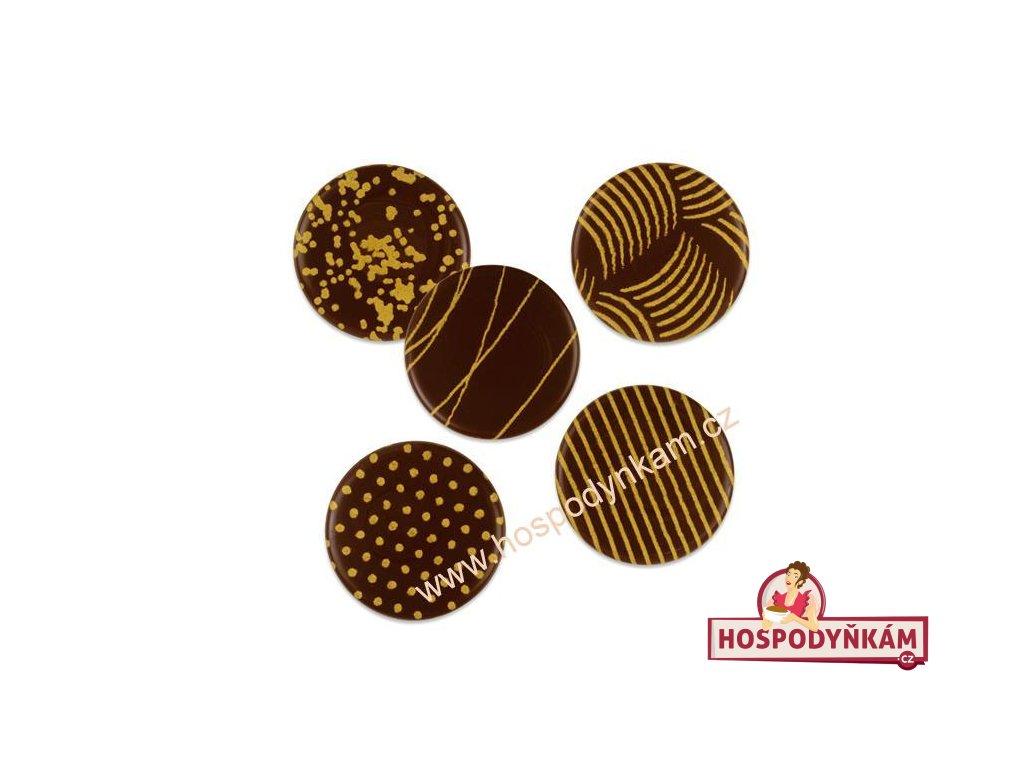 Balení Čokoládová dekorace zlaté ornamenty (120ks)