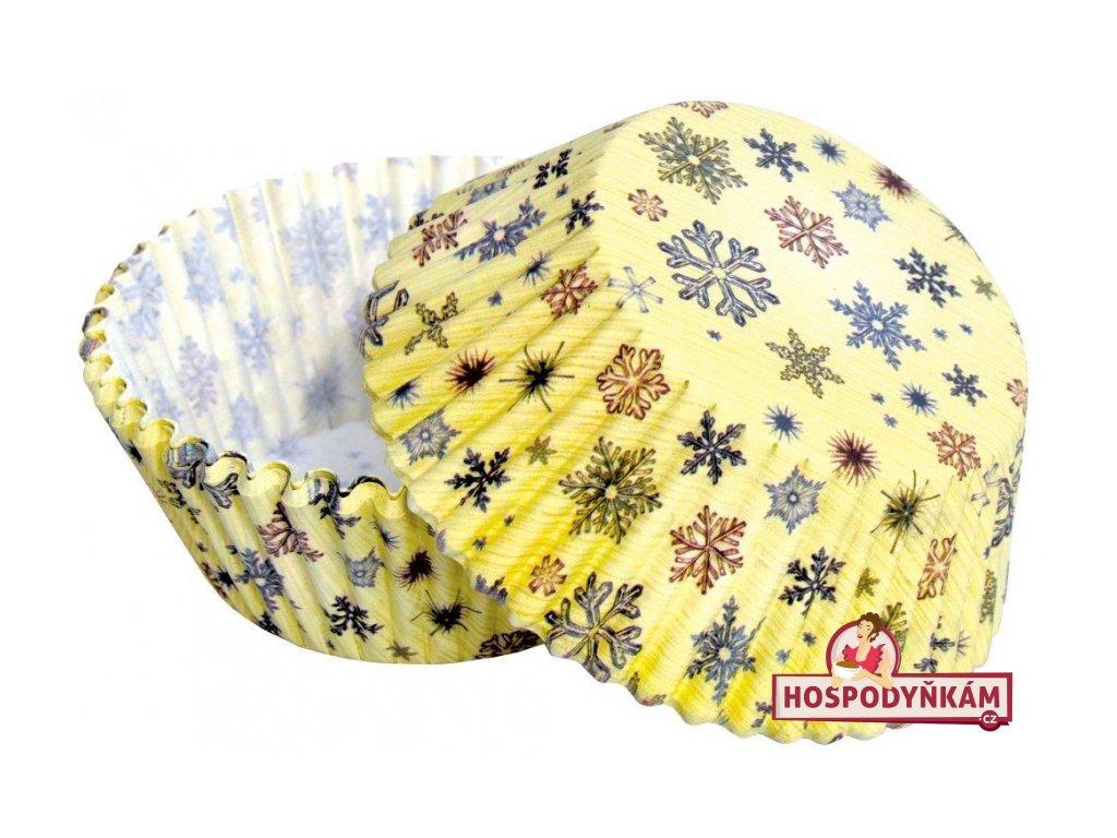 Cukrářské košíčky Vánoční sněhové vločky