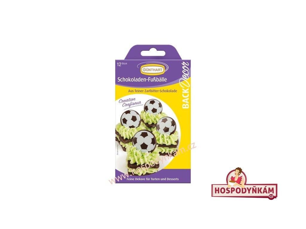Čokoládová dekorace Fotbalový míč 12ks