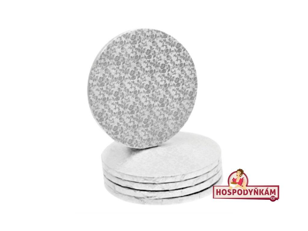 Modecor Stříbrný tác kruh 40,5cm