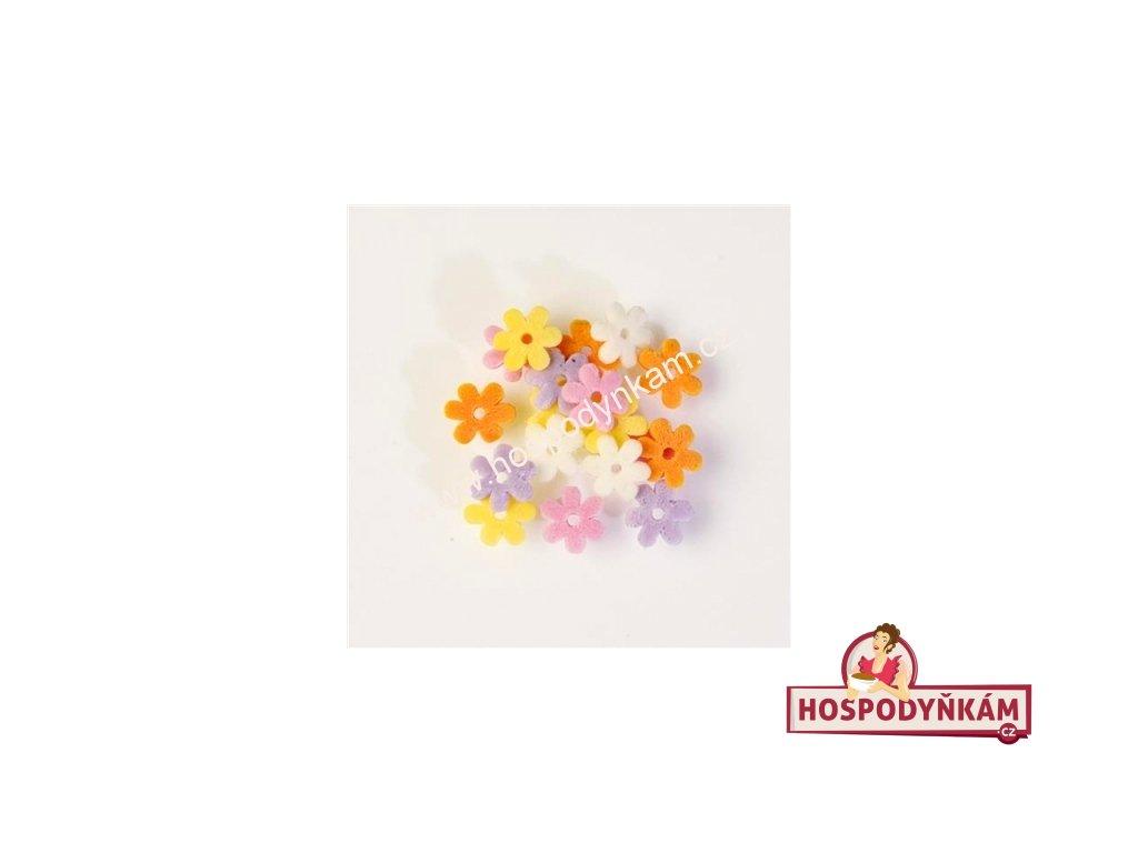 Balení Cukrové zdobení - barevné kvítky 1,2kg