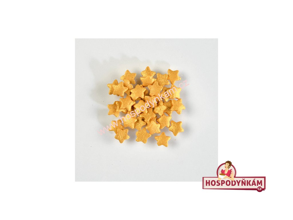 Balení Cukrové zdobení - hvězdičky zlaté 1,4kg