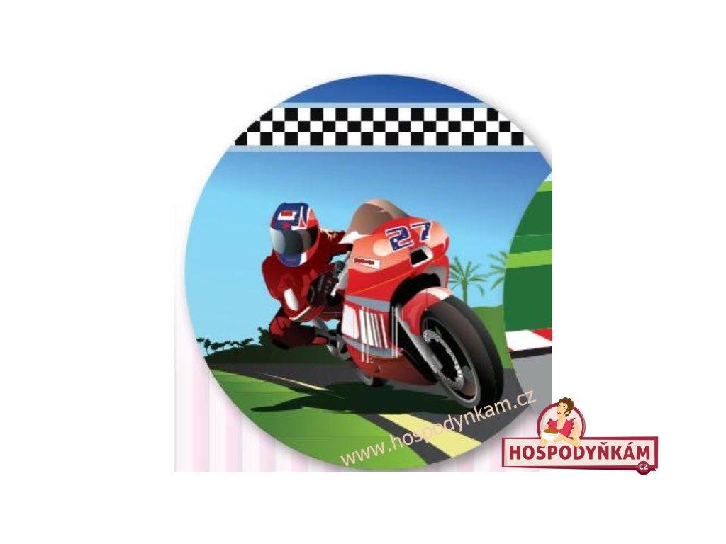 Jedlý papír motorka červená