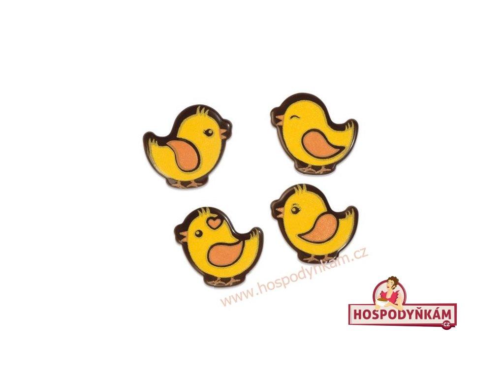 Čokoládová dekorace kuřátka 12ks