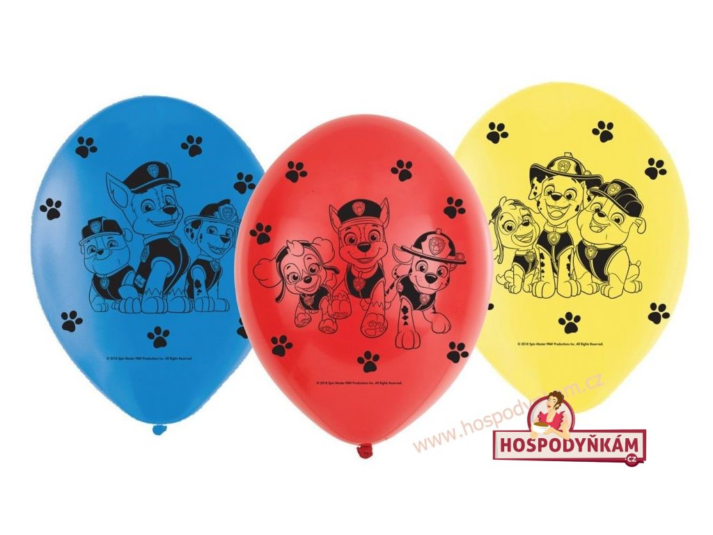 Balónky Paw Patrol 6ks