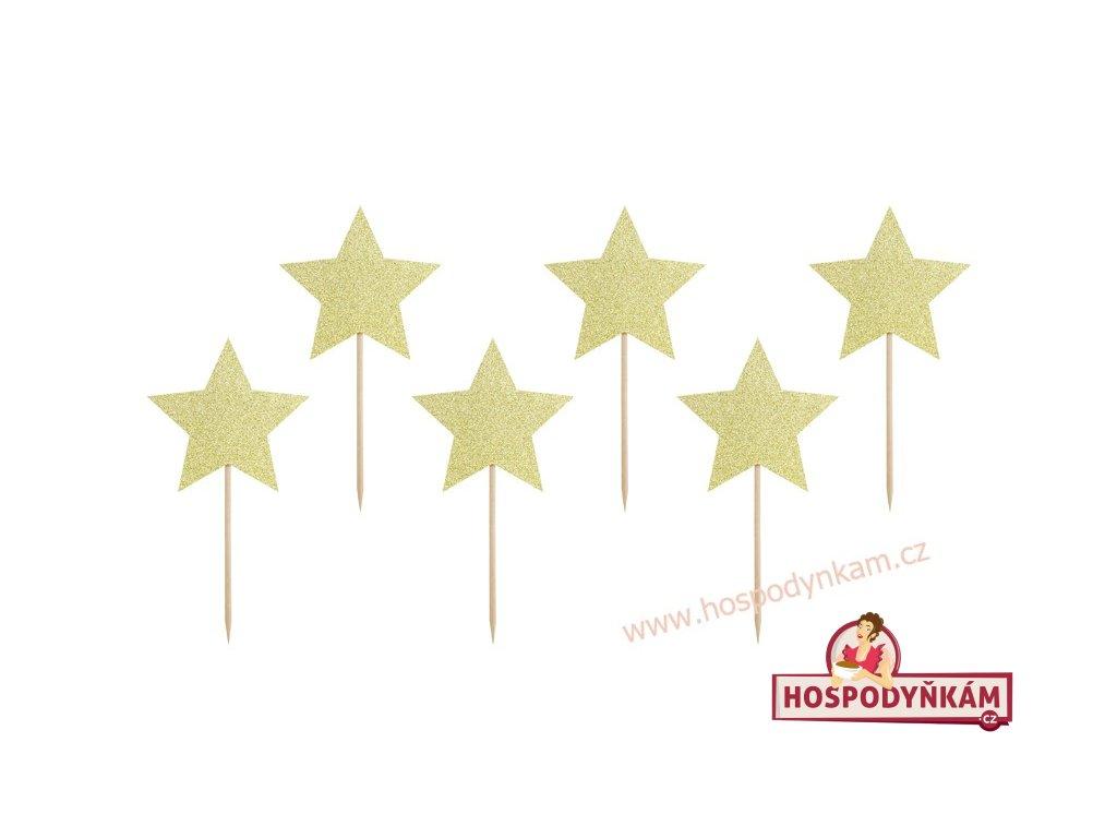 Zapichovací dekorace Zlatá hvězda