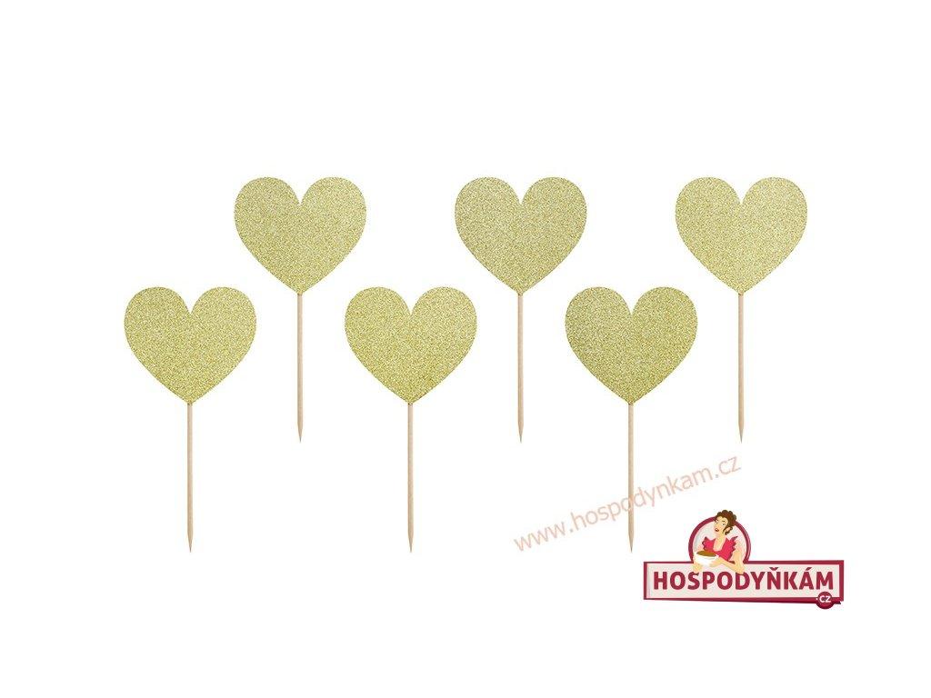Zapichovací dekorace Zlaté srdce