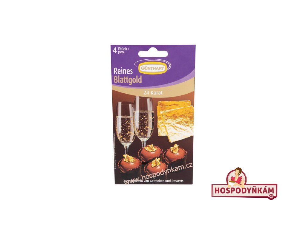 Günthart Jedlé zlato 24 karátů (4 plátky)