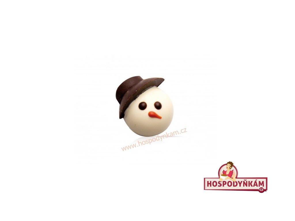 Čokoládová dekorace Sněhulák 10ks