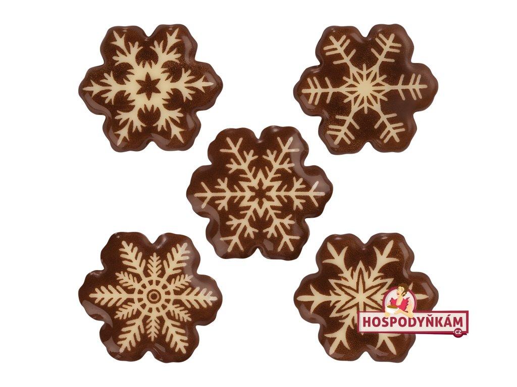 Balení Čokoládová dekorace sněhové vločky (160ks)