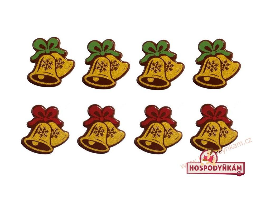 Čokoládová dekorace Zlaté zvonečky 8ks