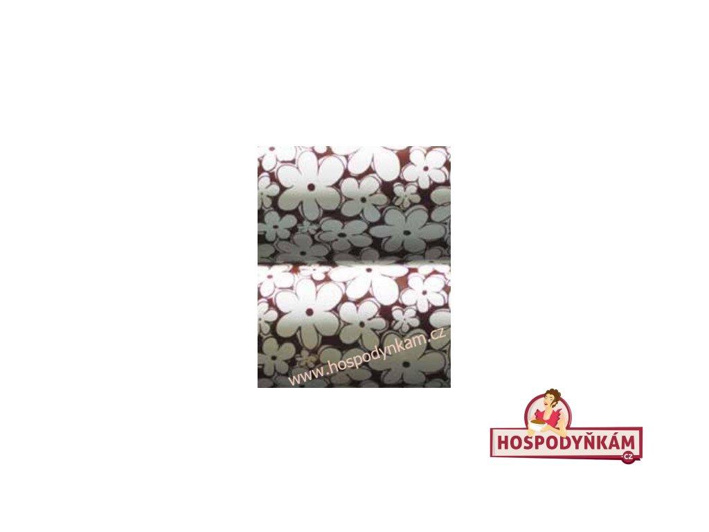 Transfer folie na čokoládu - bílé květy