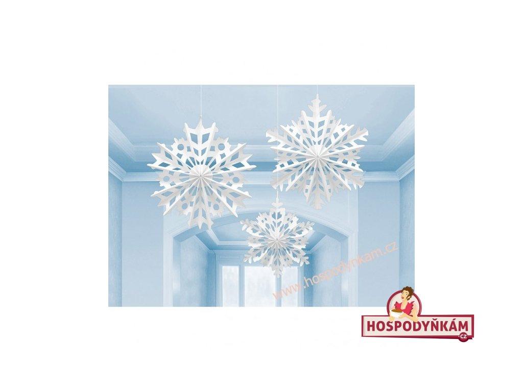 Závěsná dekorace Sněhové vločky